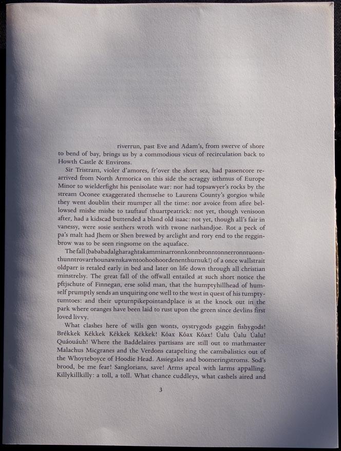 Finnegans thesis wake